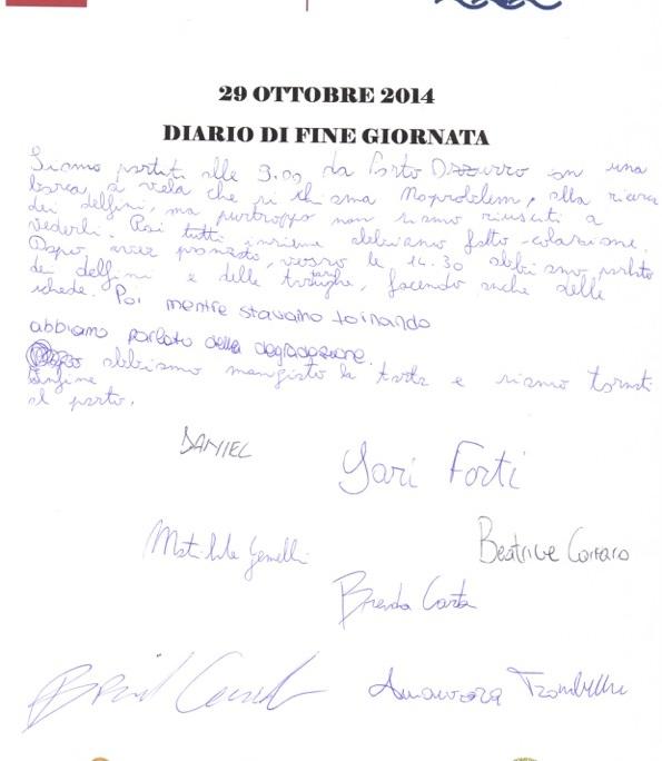 Diario fine giorn.29 Ottrobre 2014