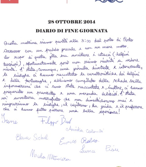 diario fine giornata 28 ottobre 2014